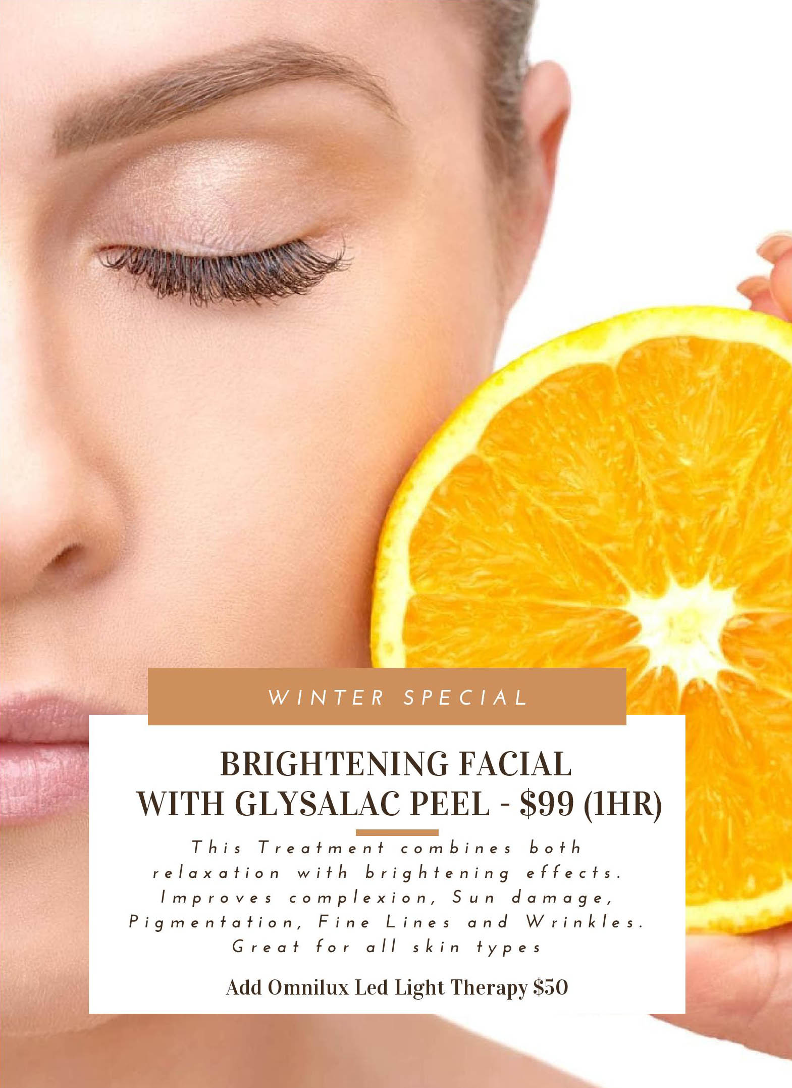 Brightening Facial with Glysalac Peel 99 per hour